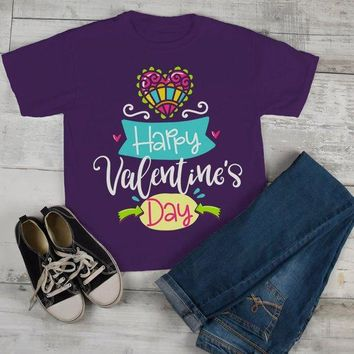 Kids Happy Valentine's Day T Shirt Cute Valentine Shirt Graphic Tee Valentines Shirts Toddler Boy's Girl's