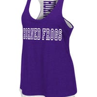 TCU Horned Frogs Womens Tank Top - Purple Horned Frogs Duo Sleeveless Shirt