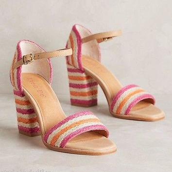 NIB Anthropologie $178 Lien.Do Gliding Stripe Heels Sz 7.5 B, 9 B, 9.5 B