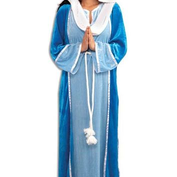 Deluxe Mary Adult Costume (Size: Standard) - Free Shipping