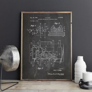 Integrated Circuit, Circuit Board, Chip Blueprint, Chip Poster,Circuit Board Print,Circuit Board Patent,Electronic Circuit, INSTANT DOWNLOAD