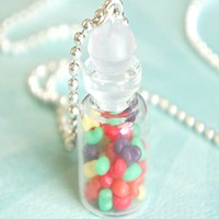 jellybeans in a jar necklace