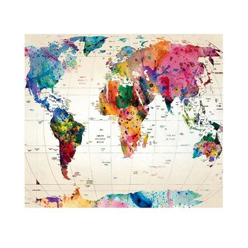 Colorful Rectangle Polyester Wall Tapestry For World Map Hippie Hanging Tapestries Mattress Yoga Mat Indian Mandala Tapestry