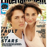 Entertainment Weekly May 9, 2014 Ansel Elgort and Shailene Woodley. The Fault in Our Stars.