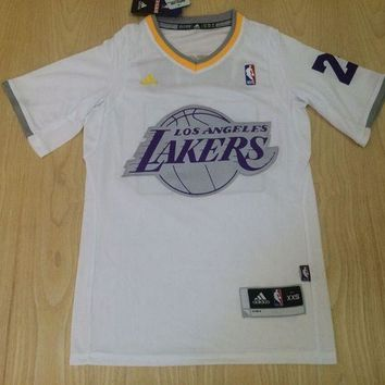 KUYOU Los Angeles Lakers Kobe Bryant White youth Christmas  Jersey