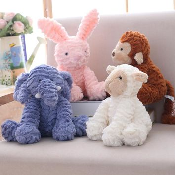 plush rabbit toys unicorn/cat/monkey/sheep/elephant plush doll stuffed animal soft kids tioys baby appease doll children's gift