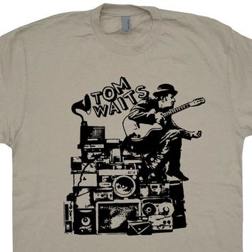 Tom Waits T Shirt Vintage Tom Waits Shirt Vintage Band Tees Cool Piano Shirts