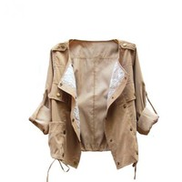 The Lace May Turn Aleeve Women Jacket$41.00