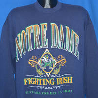 90s Notre Dame Fighting Irish Sweatshirt Extra-Large