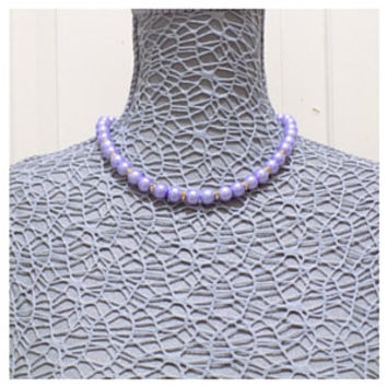 Purple and gold necklace set