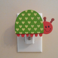 Ladybug Night Light - Baby Nursery - Lady Bug - Girl Decor - Light - Girly Decor - It's A Girl