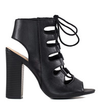 Ansley Lace Up Heels - Black