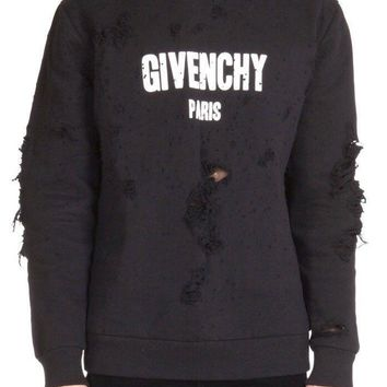 One-nice™ Givenchy Distressed Hoodie Receipt XL