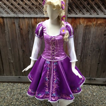 "Rapunzel Tangled Version C ""Ice Skating Version"" Adult Custom Costume in your Size"