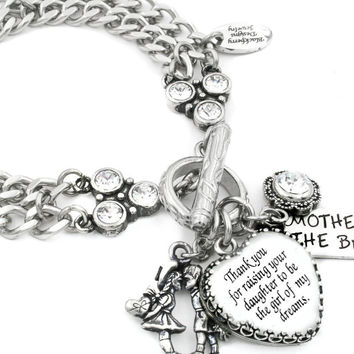 Mother of the Bride Heart Bracelet