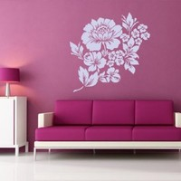 Housewares Vinyl Decal Flower Design Elements Home Wall Art Decor Removable Stylish Sticker Mural Unique Design for Any Room