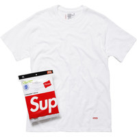 Supreme: Supreme/Hanes® Tagless Tees (3 Pack) - White