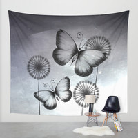 Butterflies Wall Tapestry by LouJah