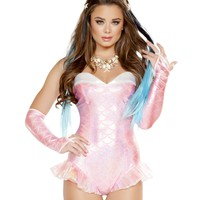 Strapless Mermaid Romper Costume