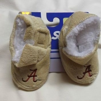 Alabama Crimson Tide Plush Infant Slippers Touch Closure Baby Booties NCAA