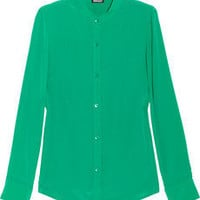 DKNY | Stretch-silk crepe de chine blouse | NET-A-PORTER.COM