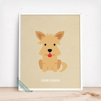 Cairn Terrier Print, Cairn Terrier Poster, Dog Print, Dog Breed, Scottish Dog, Dog Decor, Home Decor, Wall Art, Fathers Day Gift
