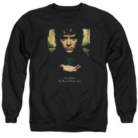 Lord of the Rings Frodo One Ring Black Crewneck Sweatshirt