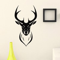 Wall Decal Vinyl Sticker Wild Animal Deer Reindeer Decor Sb423