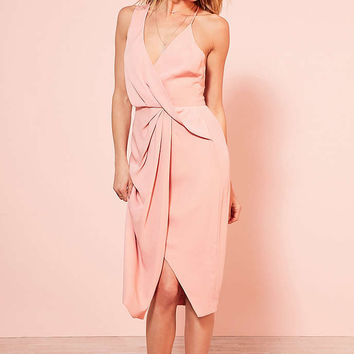 Keepsake Without You Asymmetric Surplice Midi Dress - Urban Outfitters