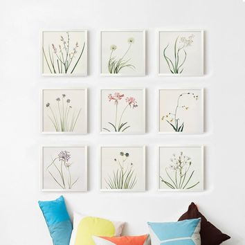 Fresh Nature Flowers Are Modern and Simple Canvas Painting Art Print Poster Picture Wall Paintings Home Decor Bedroom Decortion