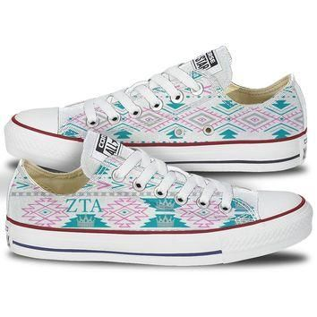 Zeta Tau Alpha Tribal Pattern Converse