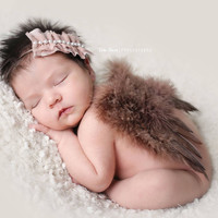 Brown Feather Angel Wings Newborn Baby Photo Prop