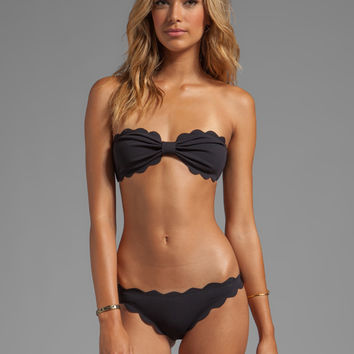 Marysia Swim Antibes Scallop Bikini in Black