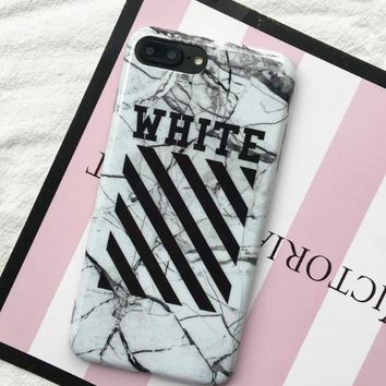 Iphone new case for off white ow shell case for iphone 6/6s/6p/plus/7/7p