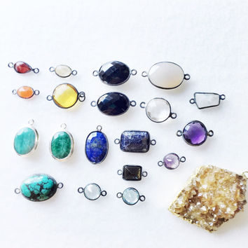 Pick a gemstone link/pendant in sterling - trunk show