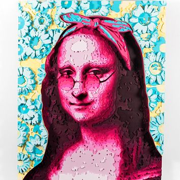 """""""Monalisa"""" by Octavian Mielu, Colored Plywood"""