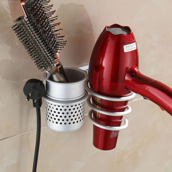 New Wall Mounted Hair Dryer Drier Comb Holder Rack Stand Set Storage Organizer New Excellent Quality Worldwide Store