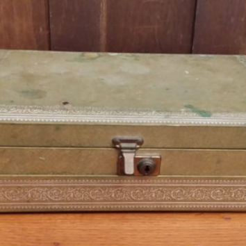 Vintage Faux Leather Mele Jewelry Box Great For Jewelry Storage and Display
