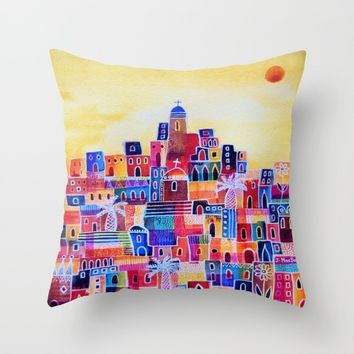Eastern Summer Throw Pillow by Janice MacDougall