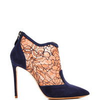 Lace and Suede Ankle Boots