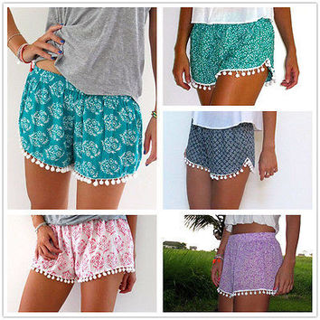 Fashion Women Summer Shorts Sexy Lady's Floral Casual High Waist Short