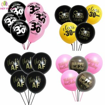 "HEY FUNN20 pcs""Oh No...The Big 30"" Latx Ballons Wedding Decoration Balloons Married Anniversary 30 Years Birthday Party Supplies"