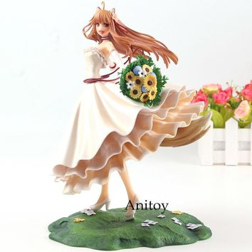 Spice and Wolf Holo Figure Wedding Dress Ver. 1/8 Scale Painted Figure Collectible Model Toy 21cm