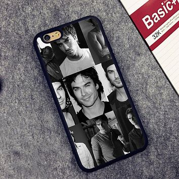 Vampire Diaries Damon Salvatore Printed Soft Rubber Mobile Phone Cases For iPhone 6 6S Plus 7 7 Plus 5 5S 5C SE 4 4S Cover Shell