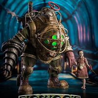 Big Daddy and Little Sister 1/6 Scale Collectible Figure Set by ThreeZero (PRE-ORDER)