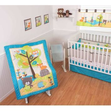 Sumersault Woodland Friends 10-Piece Crib Set - Walmart.com