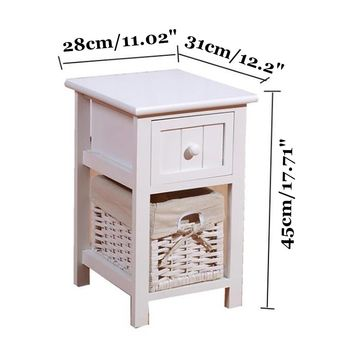 Wooden Bedside Tables Cabinet Drawers Bedroom Furniture Fahion Modern Home Dormitorio Storage Pastoral Nightstands 45X31X28cm