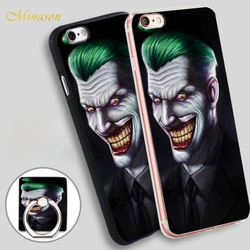 Minason joker Large back head Mobile Phone Shell Soft TPU Silicone Case Cover for iPhone X 8 5 SE 5S 6 6S 7 Plus