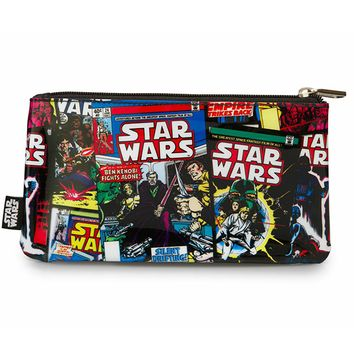 Star Wars Color Comic Print Back Pencil Case by Loungefly (Black)