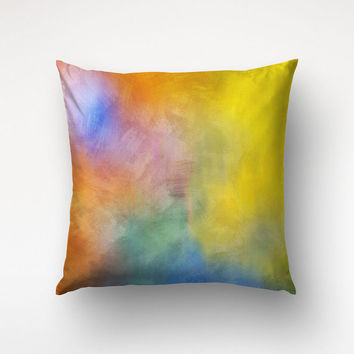 Colorful Throw Pillow, Abstract Painting, Graphic Art Pillow, Bedroom Decor, Printed Pillow